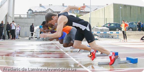 photographier athlétisme : départ 100 m