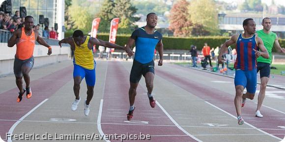 photo sportive : arrivée 100m