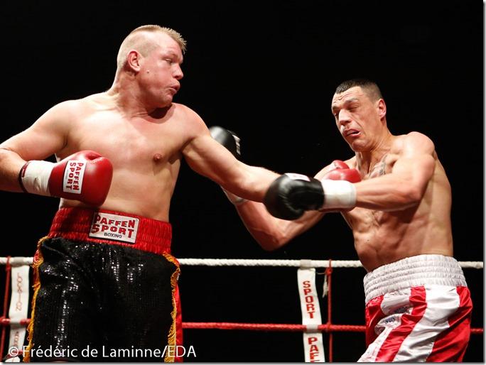Boxe, championnat de Belgique pro – de 91kg : Geoffrey Battelo (Liège) – Christophe Dufaux (Namur)