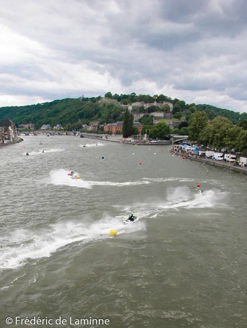 Power Jet Cup Compétition de Jet Ski qui se déroule au confluent de la Sambre et de la Meuse à Namur.